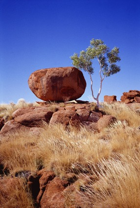 The red granite marble