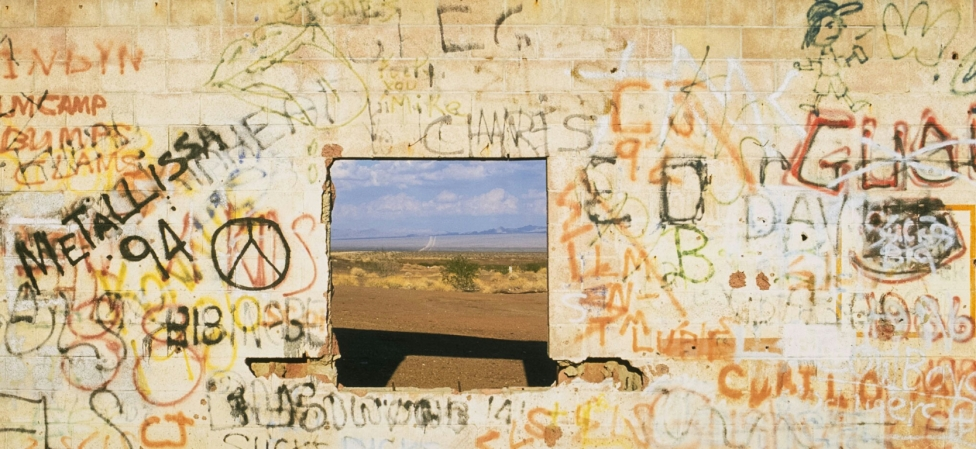 Gas Station Ruins, Route 66, Mojave Desert, California, United States of America