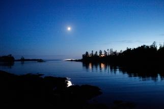 Post dusk moonrise