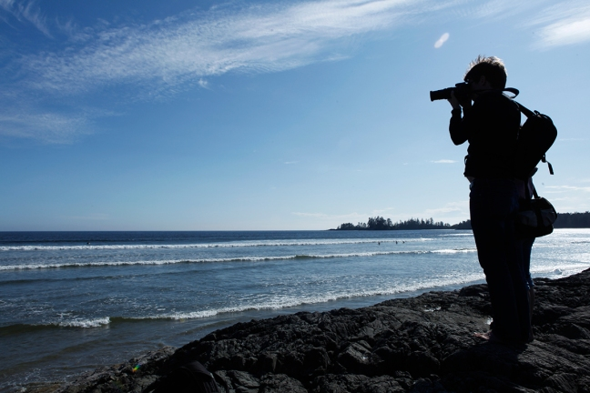 Photographing surfers...