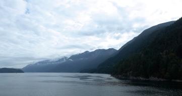 Underway, looking up Howe Sound