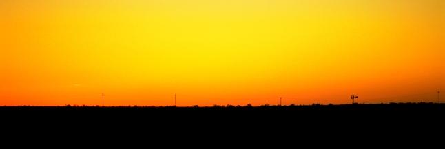 Yellow Sky at Night