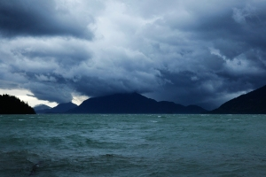 Howe Sound storm, Britannia Beach, British Columbia, Canada
