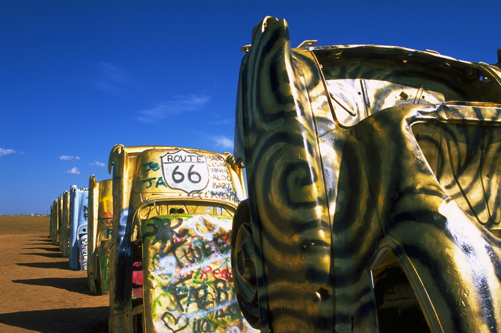 Cadillac Ranch, Route 66, near Amarillo, Texas, United States of America