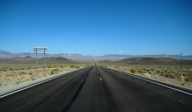 Probably Highway 6, Nevada, United States of America