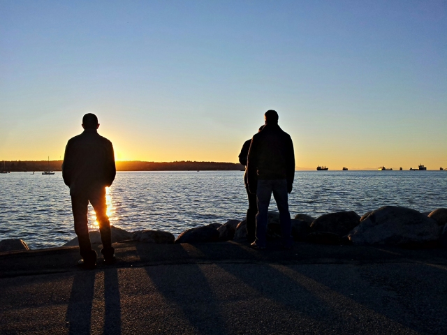 Sunset, First Beach, English Bay, Vancouver, British Columbia, Canada