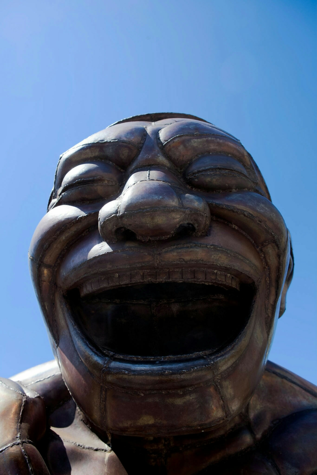 A-maze-ing Laughter Sculpture by Yue Minjun Morton Park Vancouver British Columbia, Canada