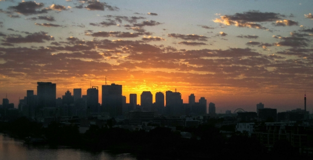 Sunrise, Brisbane, Queensland, Australia