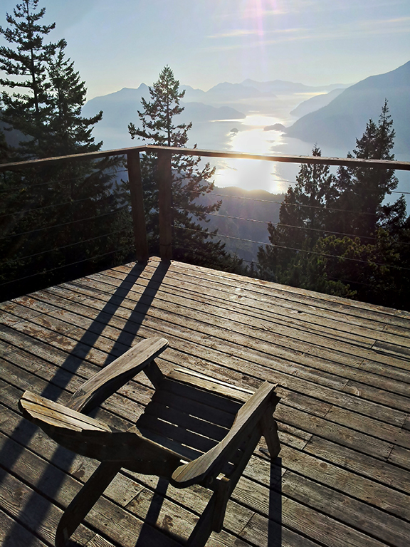 The Sundeck at the Edge of the World, Overlooking Howe Sound, British Columbia, Canada
