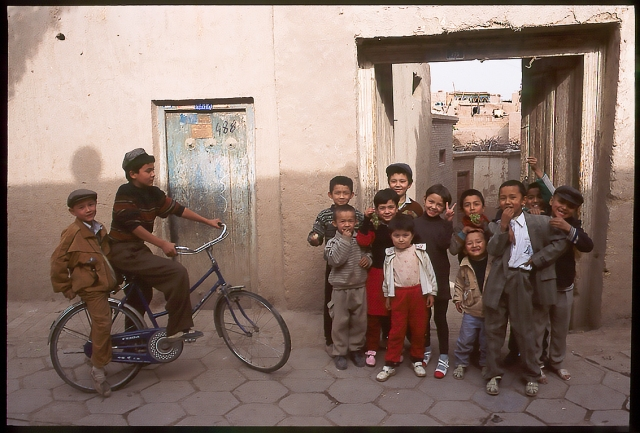 Uyghur Children, Kashgar, Xinjiang Autonomous Region, The People's Republic of China