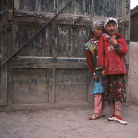 Two girls in Kashgar