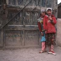 Two girls in Kashgar