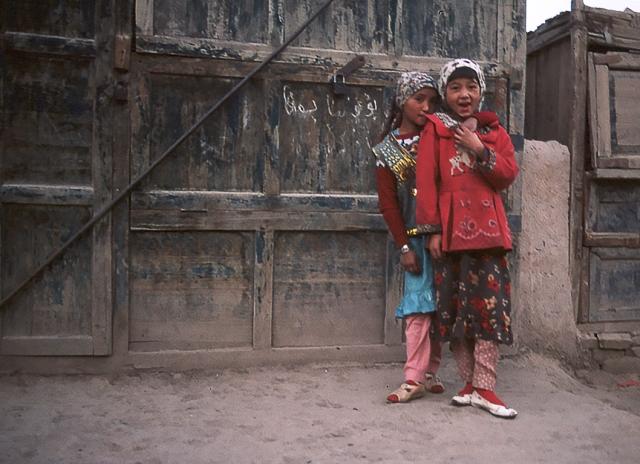 Uyghur Girls, Kashgar, Xinjiang Autonomous Region, The People's Republic of China
