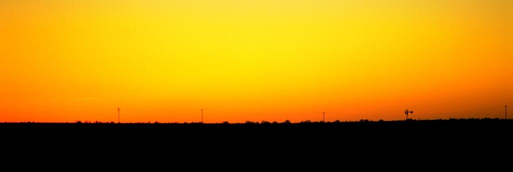 Rangeland Sunset, Route 66, Near Alanreed, Texas, United States of America