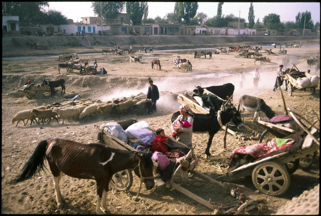 Market day, Kuqa, Xinjiang Autonomous Region, The People's Republic of China