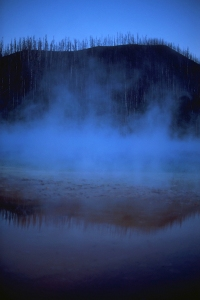 Dusk, Midway Geyser Basin, Yellowstone National Park, Wyoming, United States of America