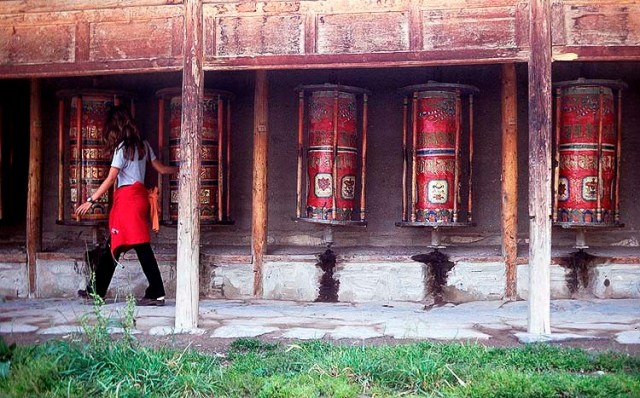 Prayer Wheels, Labrang Si Monastery, Xiahe, Gansu Province, The People's Republic of China