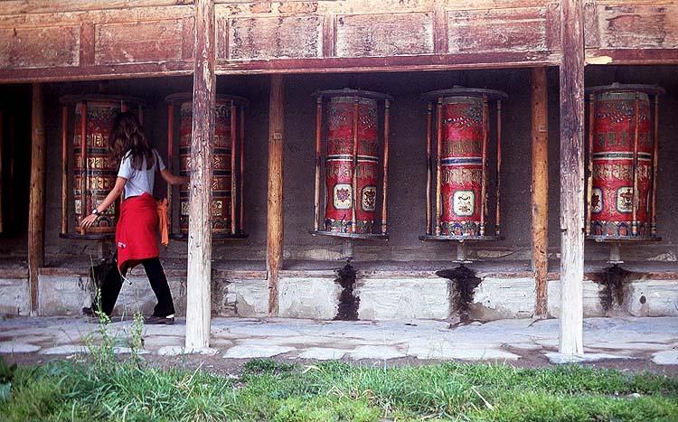Prayer Wheels, Labrang Si Monastery, Xiahe, Gansu Province, The People's Republic of China