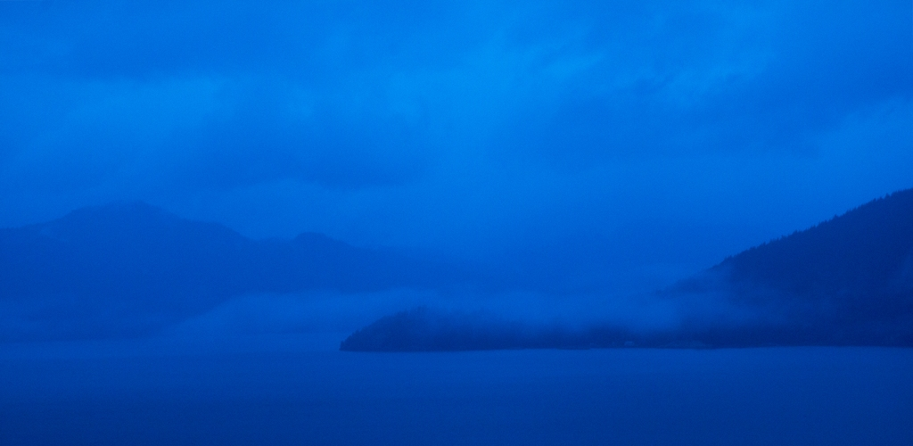 A Stormy Dusk, Howe Sound, Sea to Sky Highway, British Columbia, Canada