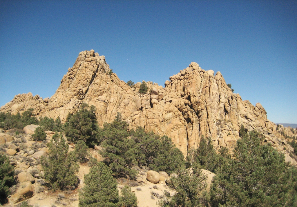 Geological Rock Formation, State Road 120 East of Mono Lake California, United States of America