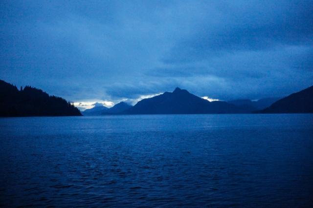 Sea to Sky Highway, Howe Sound, Britannia Beach, British Columbia, Canada