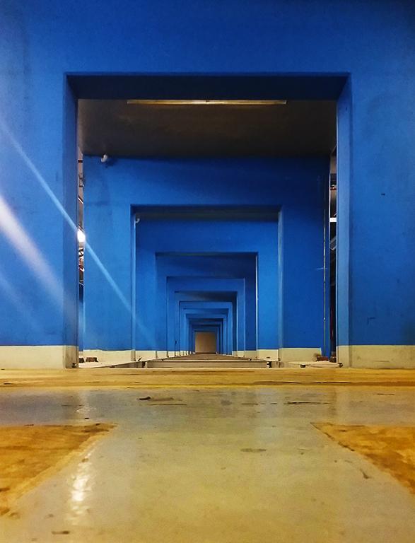 Waste Conveyor Pathway, Old Pacific Press Publishing Facility, Surrey, British Columbia, Canada