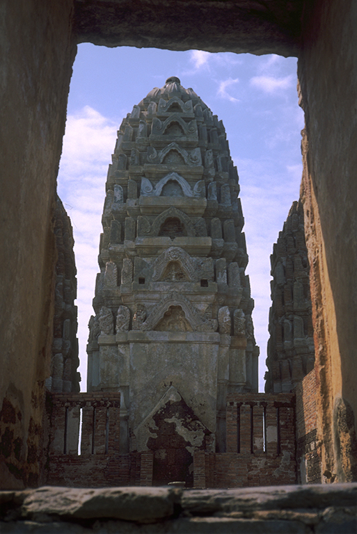 Khmer Prang, Buddhist temple spire, Sukhothai, Ancient Capitol of Siam, Thailand
