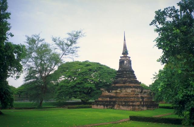 Stupa, Sukhothai, Ancient Capitol of Siam, Thailand
