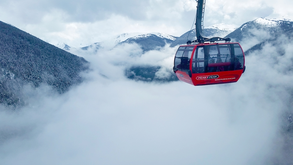 Peak 2 Peak Gondola, Fitzsimmons Valley, Whistler/Blackcomb, British Columbia, Canada