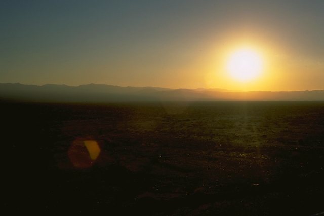 Sunset, Mojave Desert, Route 66, California, United States of America