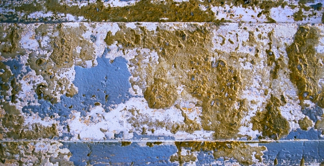 Cracked, peeling paint, Route 66, El Reno, Texas, United States of America
