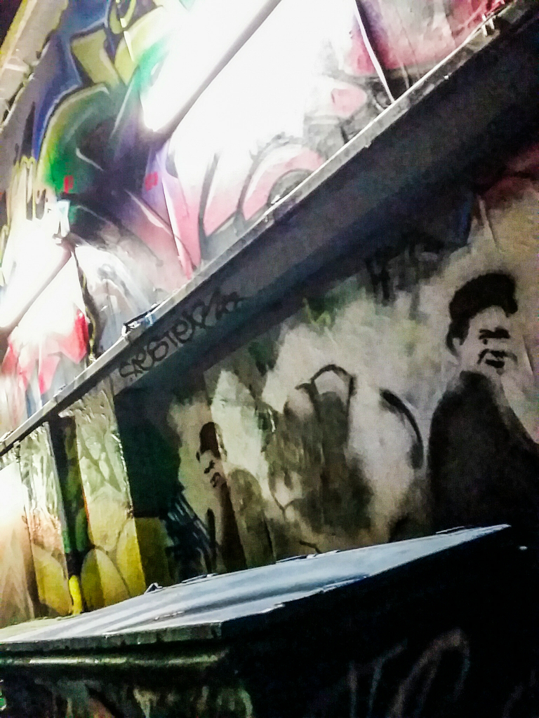 Grafitti in the Darkness, Downtown Eastside Alley, Vancouver, British Columbia, Canada