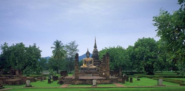 Buddha, Sukhothai, Ancient Capitol of Siam, Thailand