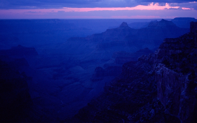 Sunset, Viewed from Point Imperial, Grand Canyon National Park, North Rim, Arizona, United States of America