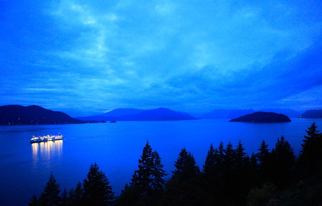 Ferry, Howe Sound, Approaching Horseshoe Bay, British Columbia, Canada
