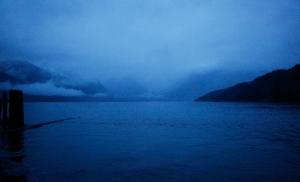 Dusk, Howe Sound, Britannia Beach, British Columbia, Canada