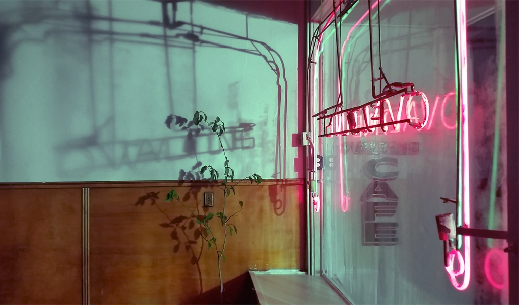 Neon and Shadows, The Ovaltine Cafe, Vancouver, British Columbia, Canada