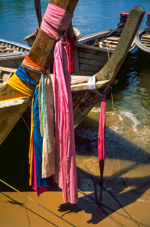 Longtails and spirit scarves, Krabi, Thailand