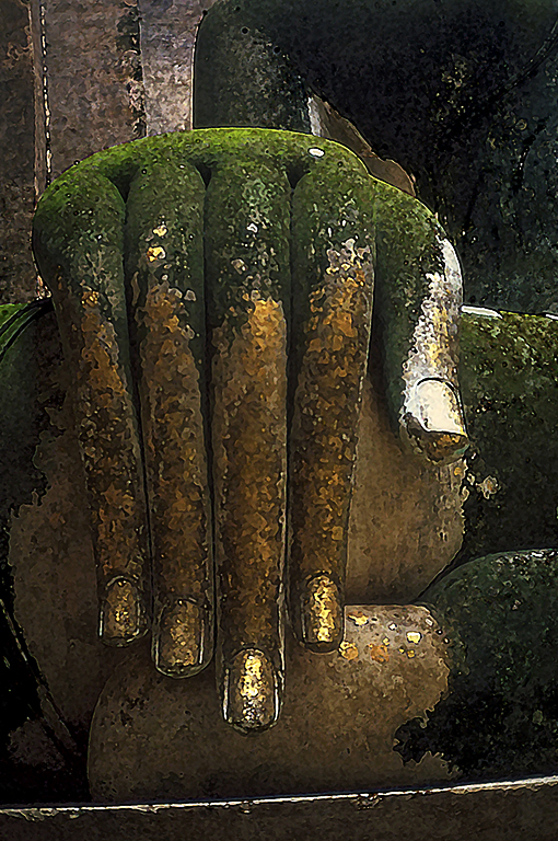 Buddha Dispelling Mara, Sukhothai, Ancient Capitol of Siam, Thailand