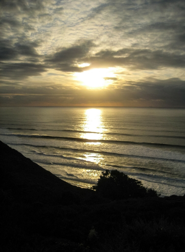 Pacific Sunset, Pacific Coast Highway, Near Santa Cruz, California, United States of America