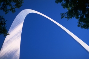Graceful Lines, Gateway Arch, Jefferson National Expansion Memorial, St. Louis, Missouri, United States of America