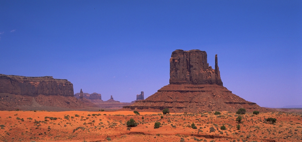 Mittens and Buttes, Monument Valley Navajo Park, Utah, United States of America