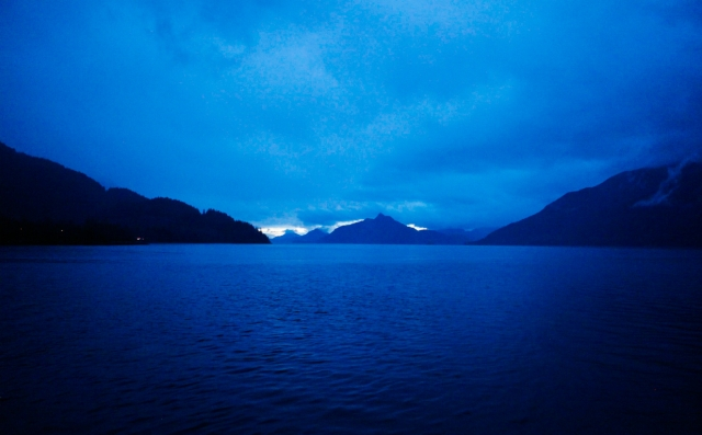 Dusk, Howe sound, Britannia Beach, Sea to sky Highway, British Columbia, Canada