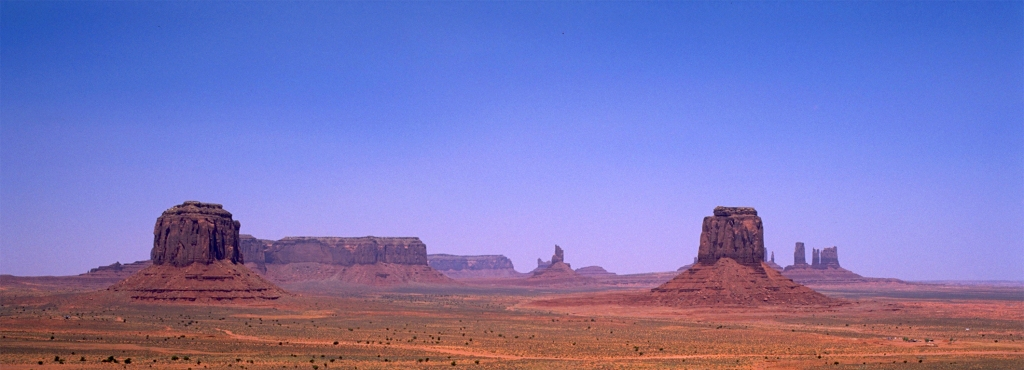 Mittens and Buttes, Monument Valley Navajo Tribal Park, Utah, United States of America