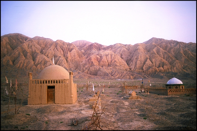 Uyghur (Muslim) Cemetery, Between Aksu and Kashgar, Xinjiang Autonomous Region, THe People's Republic of China