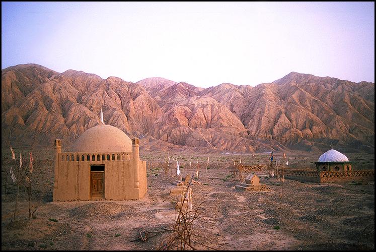 Uyghur (Muslim) Cemetery, Between Aksu and Kashgar, Xinjiang Autonomous Region, THe People's Republic of China