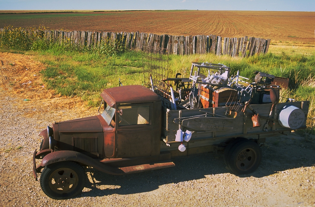 Dustbowl Jalopy, Between Adrian and Vega, Texas, United States of America