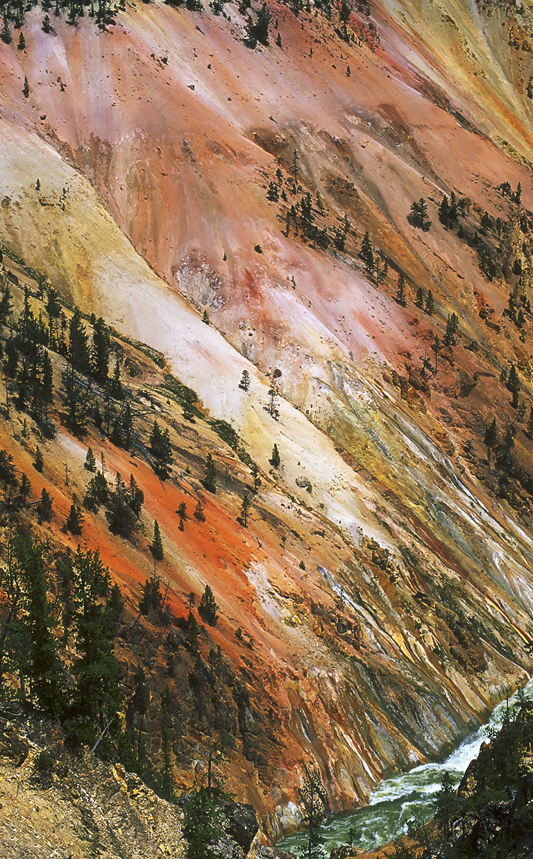 Coloured Sand, Grand Canyon of the Yellowstone, Yellowstone National Park, Wyoming, United States of America