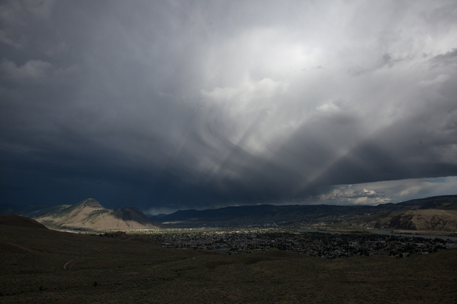 Magic in the Darkness, Storm Clouds, Kamloops, British Columbia, Canada