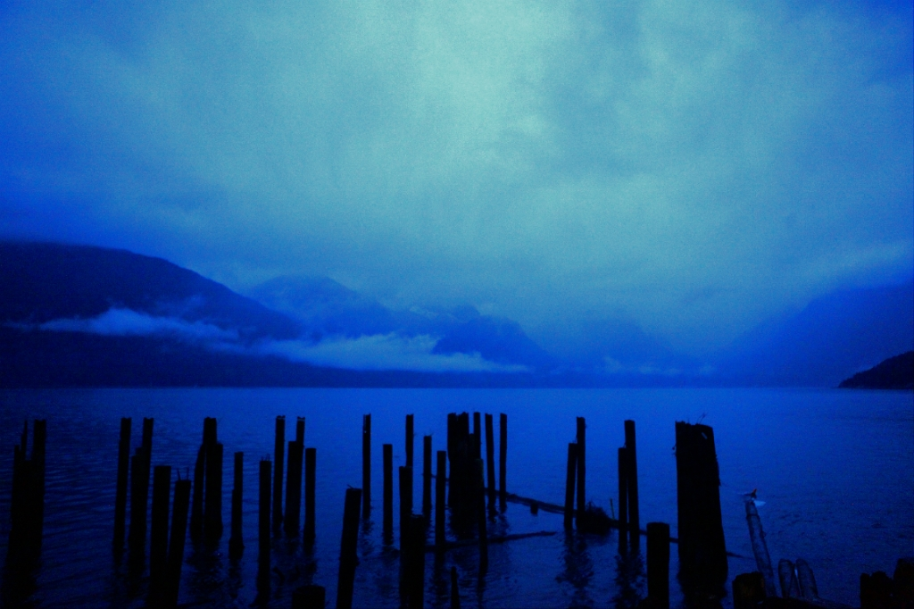 Blues, Howe Sound, Sea to Sky Highway, Britannia Beach, British Columbia, Canada